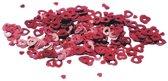 Rode confetti open hartjes