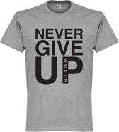 Never Give Up Liverpool T-shirt - Grijs - M