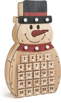 Small Foot Adventskalender Sneeuwpop Hout 40 X 23 X 8 Cm
