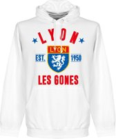 Olympique Lyon Established Hooded Sweater - Wit - S
