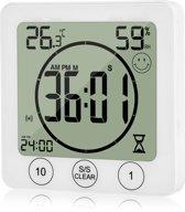 Digitale Douchewekker – Doucheklok -thermometer – Vochtigheid meter -Temperatuurmeter - Douche timer - Zandloper - Kookwekker - Kook wekker - DoucheTimer - eco saver -Showertimer - Timer voor douche - bespaar energie en water - Zand loper