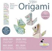 Fridolin Origami Eekhoorn Vouwen 15 X 15 Cm 20 Stuks Multicolor