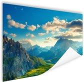 Zonsondergang in de bergen Poster 180x120 cm - Foto print op Poster (wanddecoratie woonkamer / slaapkamer) XXL / Groot formaat!