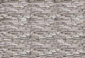 Fotobehang Stone Wall | XXXL - 416cm x 254cm | 130g/m2 Vlies