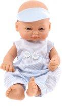 Falca Babypop Newborn 16 Cm Meisjes Blauw Met Strepen