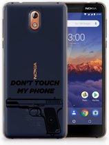 Nokia 3.1 (2018) Uniek TPU Hoesje Pistol DTMP