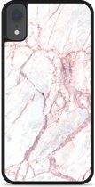 iPhone Xr Hardcase hoesje White Pink Marble