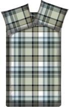 Beddinghouse Sherlock Dekbedovertrek - Flanel - Tweepersoons - 200x200/220 cm - Taupe