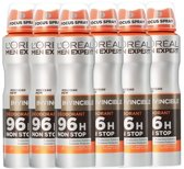 L'Oréal Paris Men Expert Invincible Deodorant - 6 x 150 ml - Spray - Voordeelverpakking