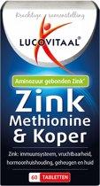 Lucovitaal - Zink Methionine & Koper - 60 tabletten - Voedingssupplement