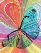 Butterfly Colorful Notebook - 5x5 Graph Paper