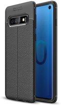 Samsung Galaxy S10 Hoesje - Zachte TPU Back Case - Zwart