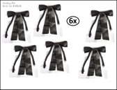 6x Cowboy strik zwart