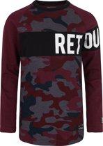 Retour Jeans Jongens T-shirt - Bordeaux - Maat 122/128