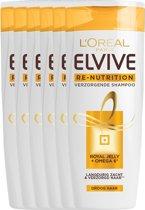 L'Oréal Paris Re-Nutrition Shampoo - 6x250 ml - Voordeelverpakking