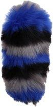 Kamparo Sleutelhanger Fluffy Blauw Met Zwart 15 Cm