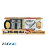 THE WALKING DEAD - Set 2 espresso mugs - 110 ml - Daryl VS Negan