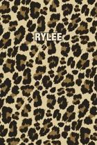 Rylee: Personalized Notebook - Leopard Print (Animal Pattern). Blank College Ruled (Lined) Journal for Notes, Journaling, Dia