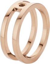Melano twisted Trista ring - Ros'goudkleurig - Dames - Maat 54