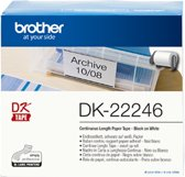 Brother DK-22246 labelprinter-tape Zwart op wit