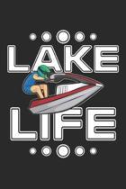 Lake Life: Jetski Notizbuch liniert DIN A5 - 120 Seiten f�r Notizen, Zeichnungen, Formeln - Organizer Schreibheft Planer Tagebuch