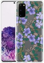 Samsung Galaxy S20 Hoesje Purple Flowers