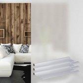 relaxdays 3 x anti-inkijk folie 45x200 cm - melkglasfolie statisch - raamfolie - deurfolie
