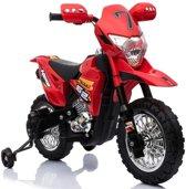 Crossmotor rood 6V, elektrische kinder motor