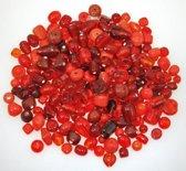 200g Glasparels Mix van rode kleuren