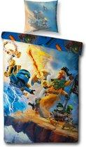 Lego Ninjago Mania - Dekbedovertrek - Eenpersoons 140 x 200 cm - Multi