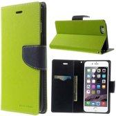 Mercury Goospery groene wallet Bookcase iPhone 6 Plus 6s Plus portemonnee hoesje