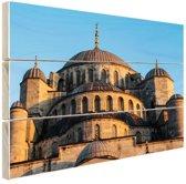 Moskee Midden-Oosten Hout 120x80 cm - Foto print op Hout (Wanddecoratie)