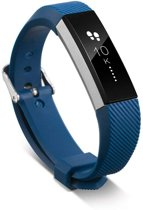 Siliconen Horloge Band Voor Fitbit Ace - Armband / Polsband / Strap / Sportband - Donker Blauw