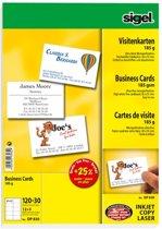 visitekaartjes Sigel 200grs pak a 75 stuks wit