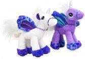 Eenhoorn knuffel (unicorn) paars