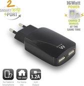 Ewent USB Charger 110-240V 2 port smart