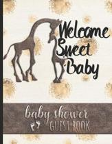 Welcome Sweet Baby - Baby Shower Guest Book