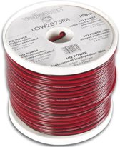 Velleman LOW2075RB audio kabel 100 m Zwart, Rood