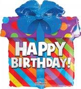 Folie ballon als cadeau happy birthday 46 cm groot