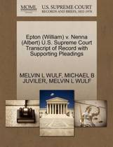 Epton (William) V. Nenna (Albert) U.S. Supreme Court Transcript of Record with Supporting Pleadings