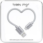 Happy Plugs Micro USB kabel space grey