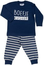 Fun2Wear Boefje Baby/Peuter/Kleuter/Kinderpyjama - Navy - Maat 98