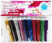 Knutsel Hobby Glitters - 10 Kleuren