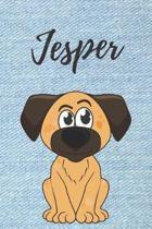 Jesper Notizbuch Hunde / Malbuch / Tagebuch / Journal / DIN A5 / Geschenk: individuelles personalisiertes blanko Jungen & M�nner Namen Notizbuch, ...