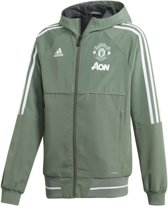 adidas - Manchester United FC Presentation Jacket Youth - Kinderen - maat 128