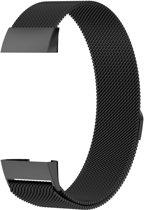 Milanees bandje Zwart geschikt voor Fitbit Charge 3 - SmartphoneClip