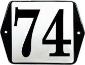 Emaille huisummer model oor - 74