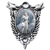 Anne Stokes Cameo Pendant Winter Guardians