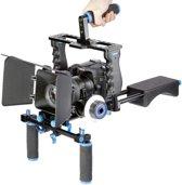 YELANGU YLG1103A-A Dual Handles Camera Schouder Mount + Camera Cage Stabilisator Kit