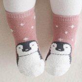 Baby sokjes - Babysokjes met anti-slip laagje - Pinguin - 12-24 maanden - Veilige eerste stapjes